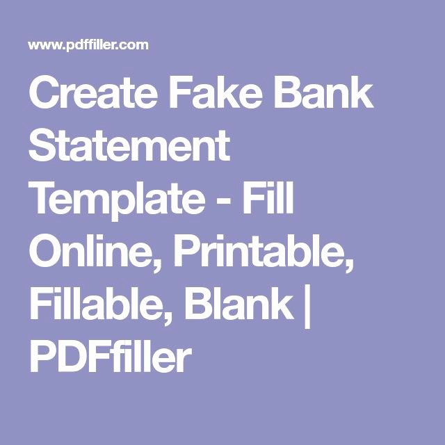Free Fake Bank Statements Templates Awesome Best 25 Bank Statement Ideas On Pinterest
