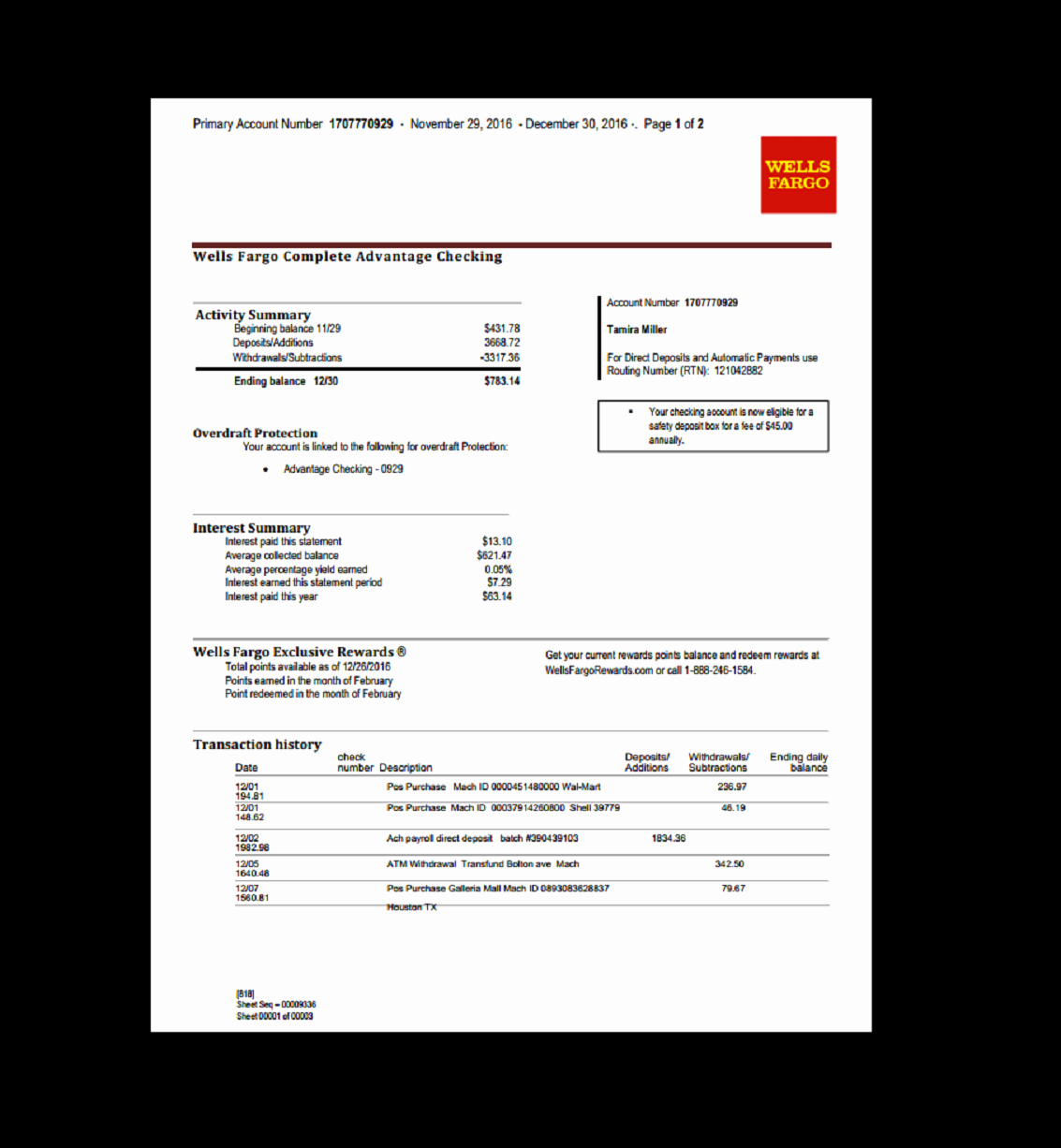 Free Fake Bank Statements Templates Inspirational Bank Statement Wells Fargo In 2019