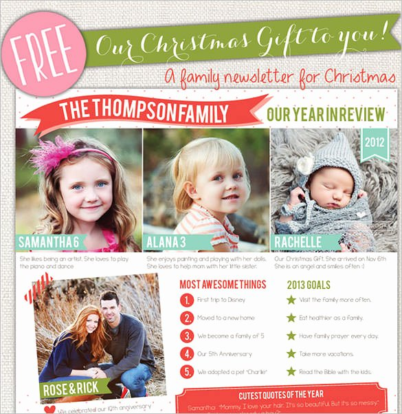 Free Family Newsletter Template Awesome 38 Christmas Email Newsletter Templates Free Psd Eps