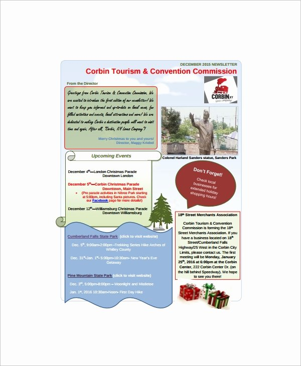 Free Family Newsletter Template Awesome Sample Holiday Newsletter 7 Documents In Pdf