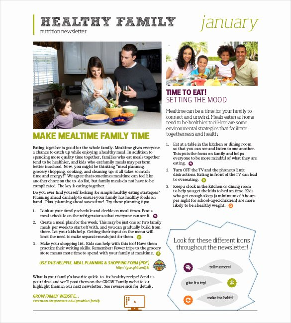 Free Family Newsletter Template Beautiful 10 Family Newsletter Templates Free Sample Example