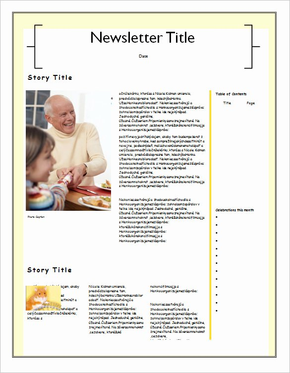 Free Family Newsletter Template Beautiful Family Newsletter Template – Emmamcintyrephotography