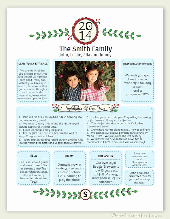 Free Family Newsletter Template Best Of Best 25 Christmas Newsletter Ideas On Pinterest