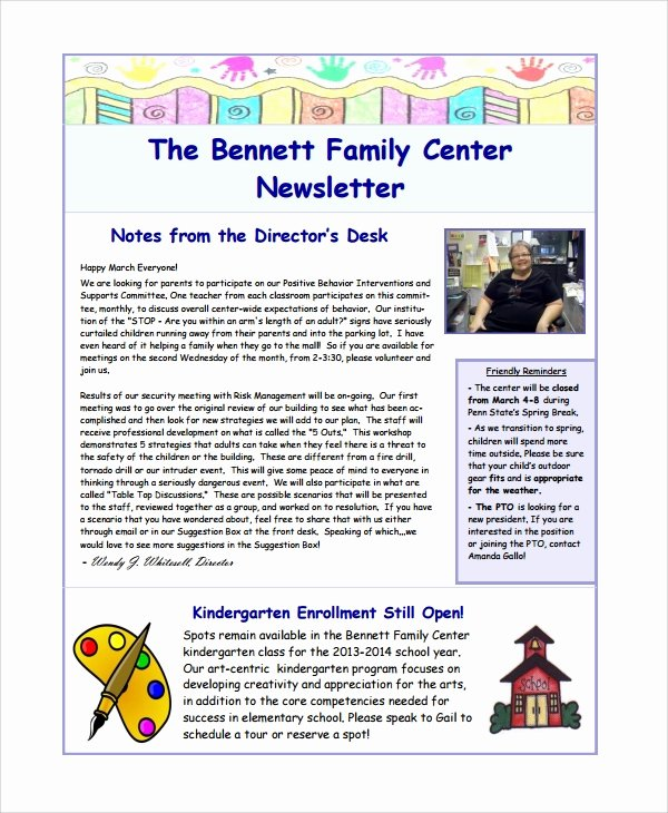 Free Family Newsletter Template Best Of Sample Family Newsletter Template 9 Free Documents