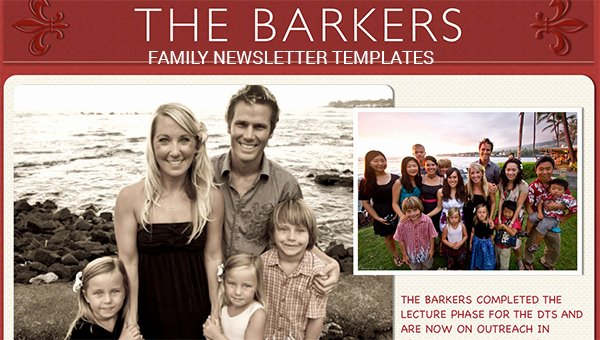 Free Family Newsletter Template Elegant 9 Family Newsletter Templates Free Word Documents