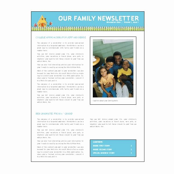 Free Family Newsletter Template New where to Find Free Church Newsletters Templates for