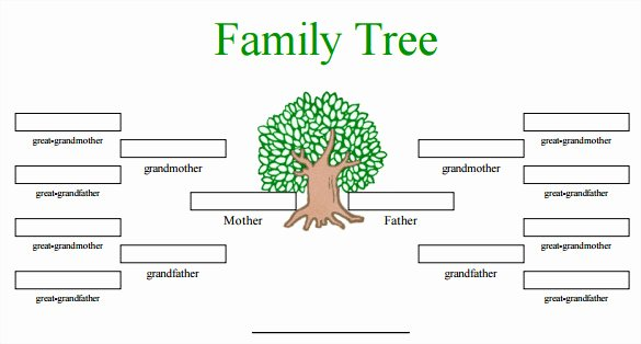 Free Family Tree Template Word Fresh Blank Family Tree Template 32 Free Word Pdf Documents