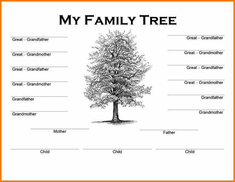 Free Family Tree Template Word Luxury Family Tree Word Template