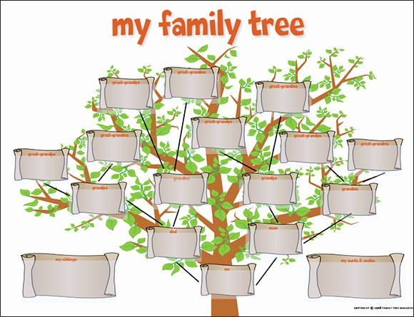 Free Fillable Family Tree Template Fresh Free 56 Family Tree Templates In Word Apple