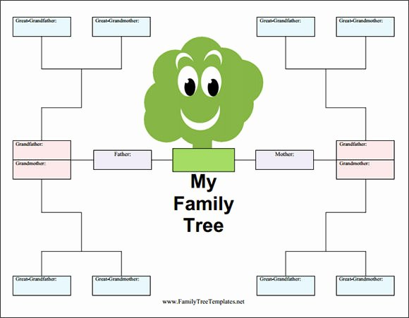 Free Fillable Family Tree Template Inspirational Blank Family Tree Template