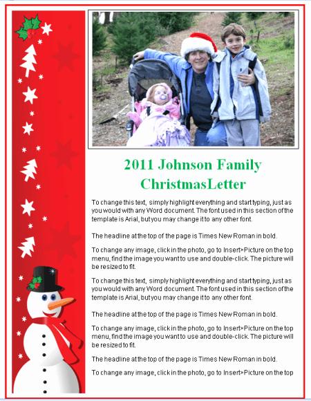 christmas letter templates 2