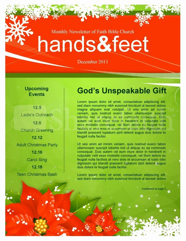 Free Holiday Newsletter Templates Beautiful 5 Free Christmas Newsletter Templates for Church