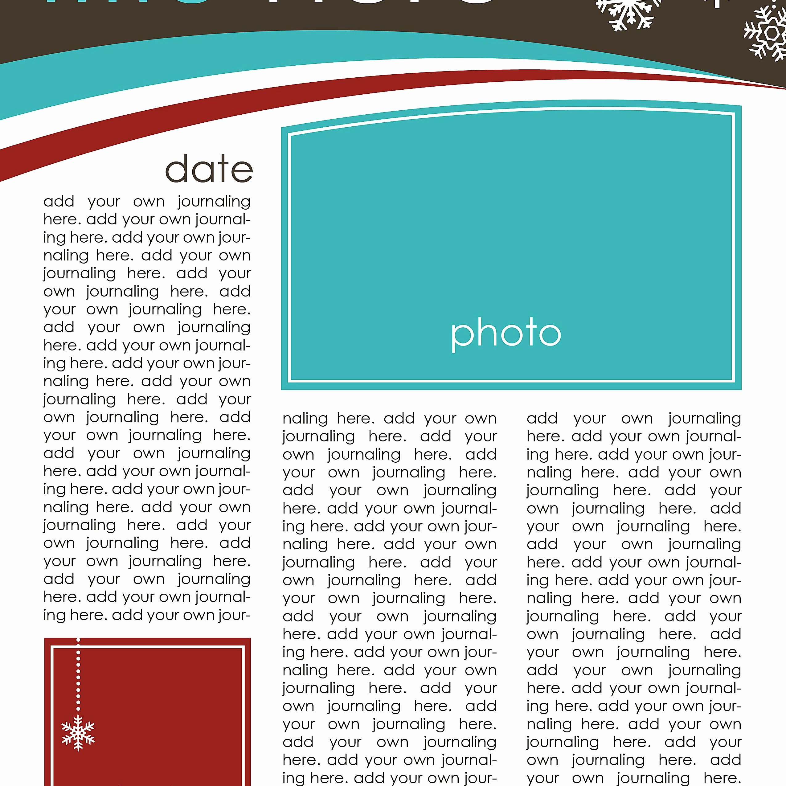 Free Holiday Newsletter Templates Beautiful 7 Free Christmas Letter Templates and Ideas