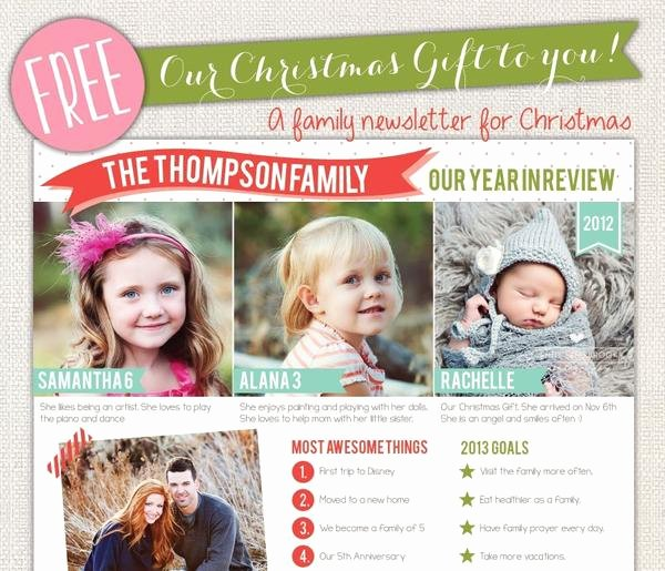 Free Holiday Newsletter Templates Beautiful Free Shop Christmas Templates – Birdesign