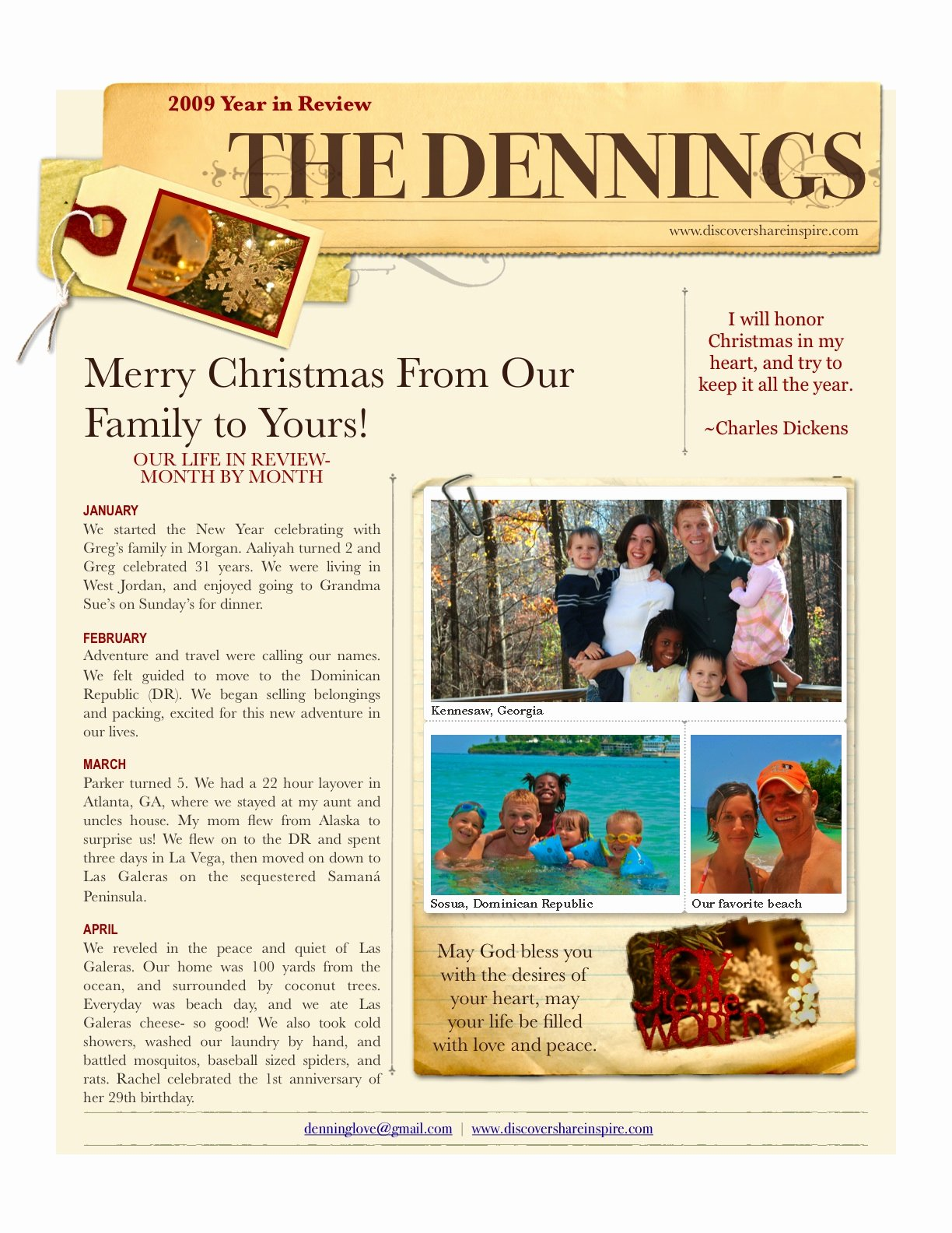 Free Holiday Newsletter Templates Elegant Discover Life the Journey Inspire Change