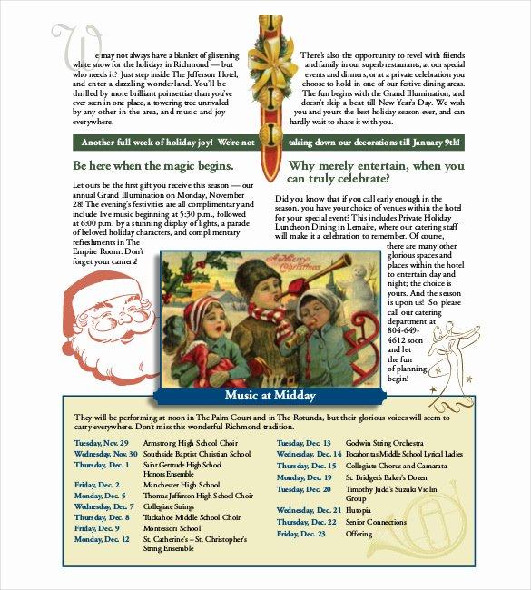 Free Holiday Newsletter Templates Elegant Holiday Newsletter Template 16 Free Jpg Psd Pdf