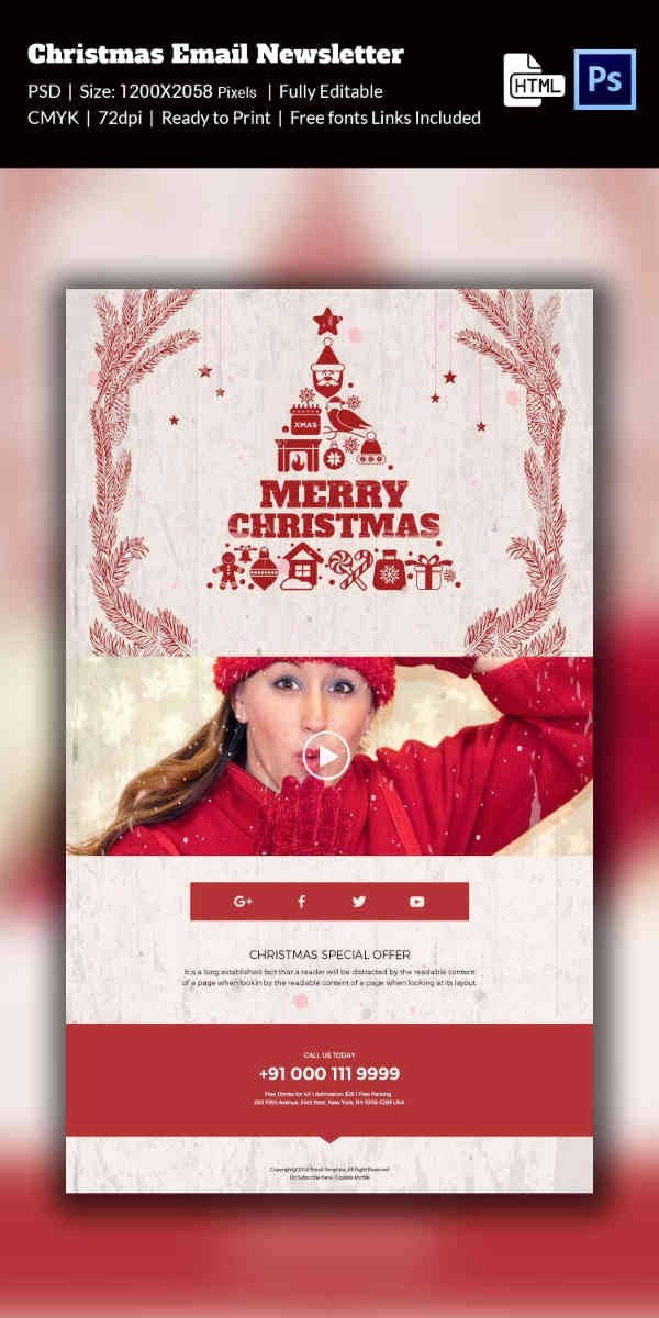 Free Holiday Newsletter Templates Fresh 38 Christmas Email Newsletter Templates Free Psd Eps