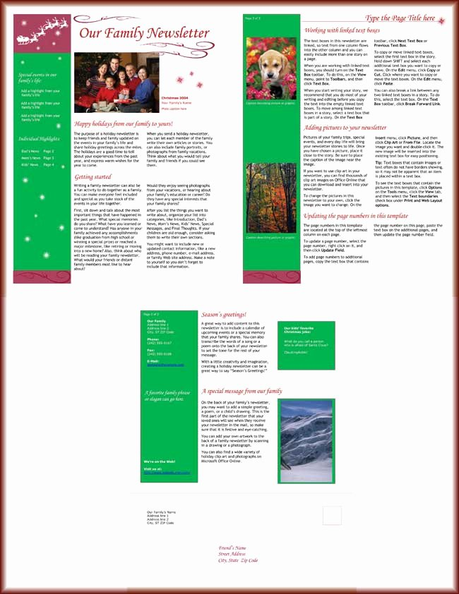 Free Holiday Newsletter Templates Fresh 9 Christmas Newsletter Templates to Create Printable and