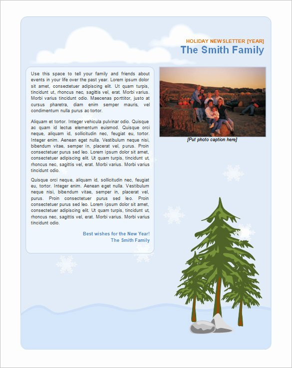 Free Holiday Newsletter Templates Lovely 9 Holiday Newsletter Templates – Free Word Documents