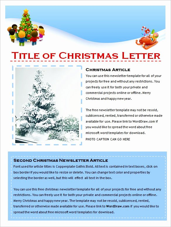 Free Holiday Newsletter Templates Luxury 27 Microsoft Newsletter Templates Doc Pdf Psd Ai
