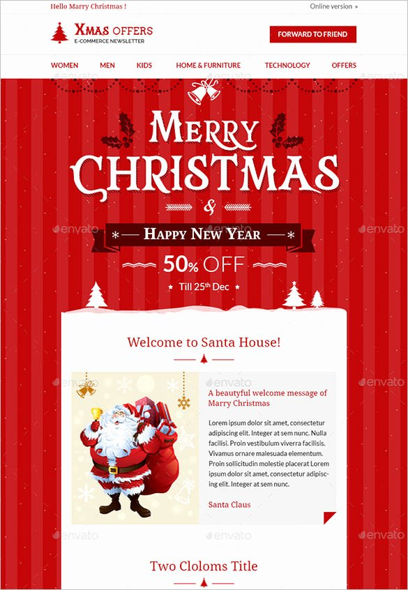 Free Holiday Newsletter Templates New 28 Christmas Newsletter Templates Free Psd Eps Ai