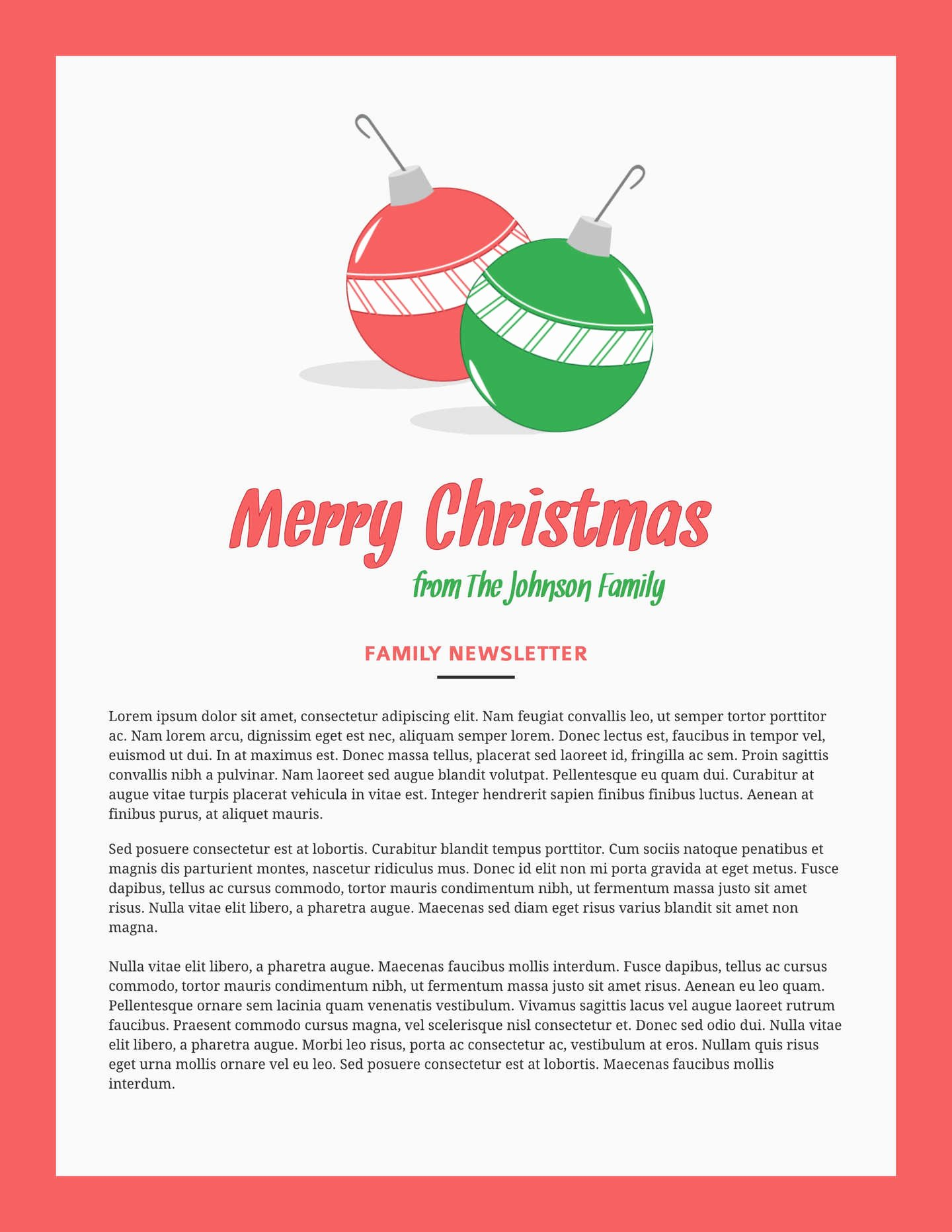 Free Holiday Newsletter Templates New 6 Free Christmas Templates & Examples Lucidpress