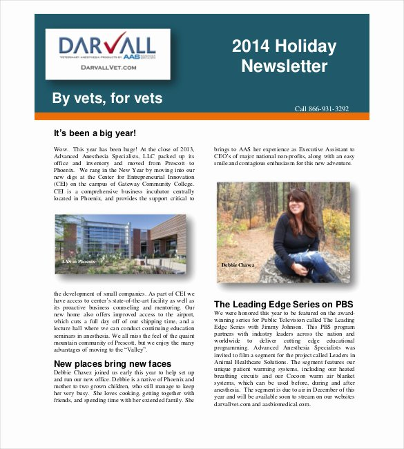 Free Holiday Newsletter Templates New 6 Holiday Newspaper Templates