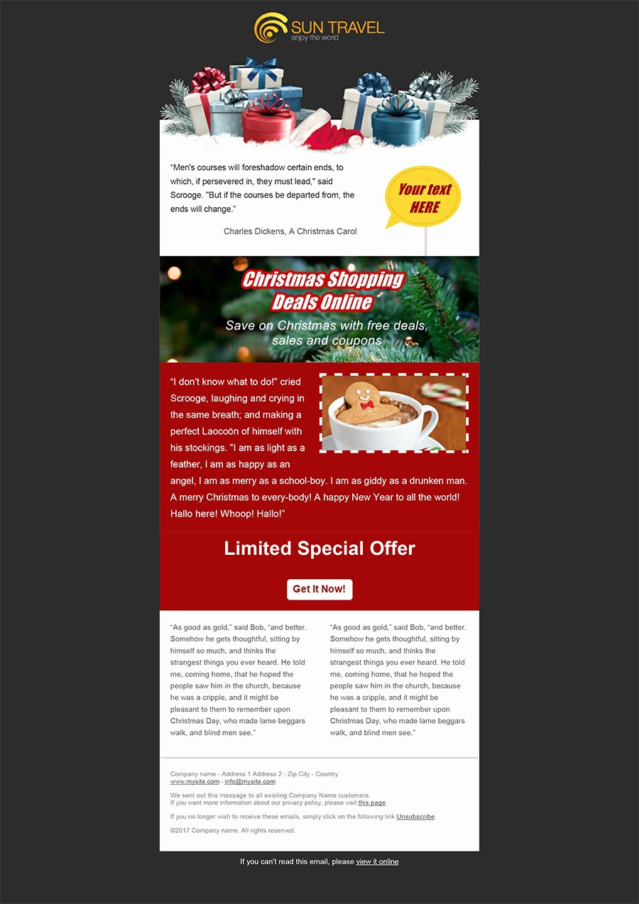 Free Holiday Newsletter Templates Unique Create Your Christmas Newsletters Sendblaster Bulk Email