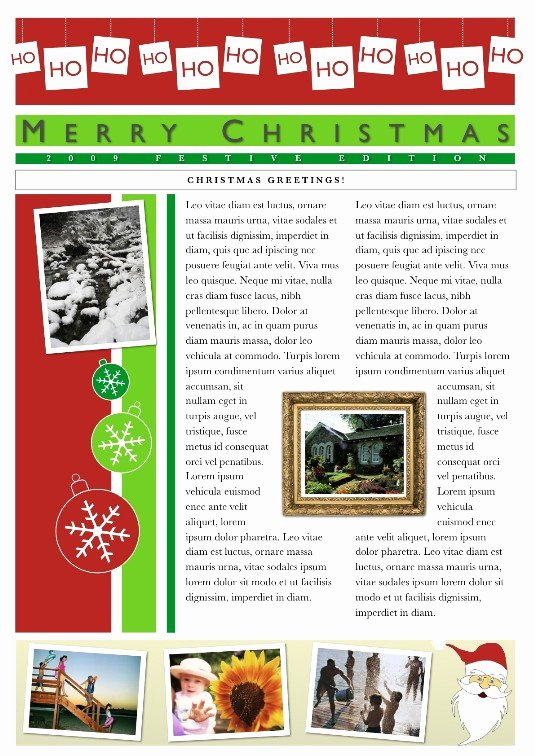 Free Holiday Newsletter Templates Unique Download Free software Pages Holiday Newsletter Templates