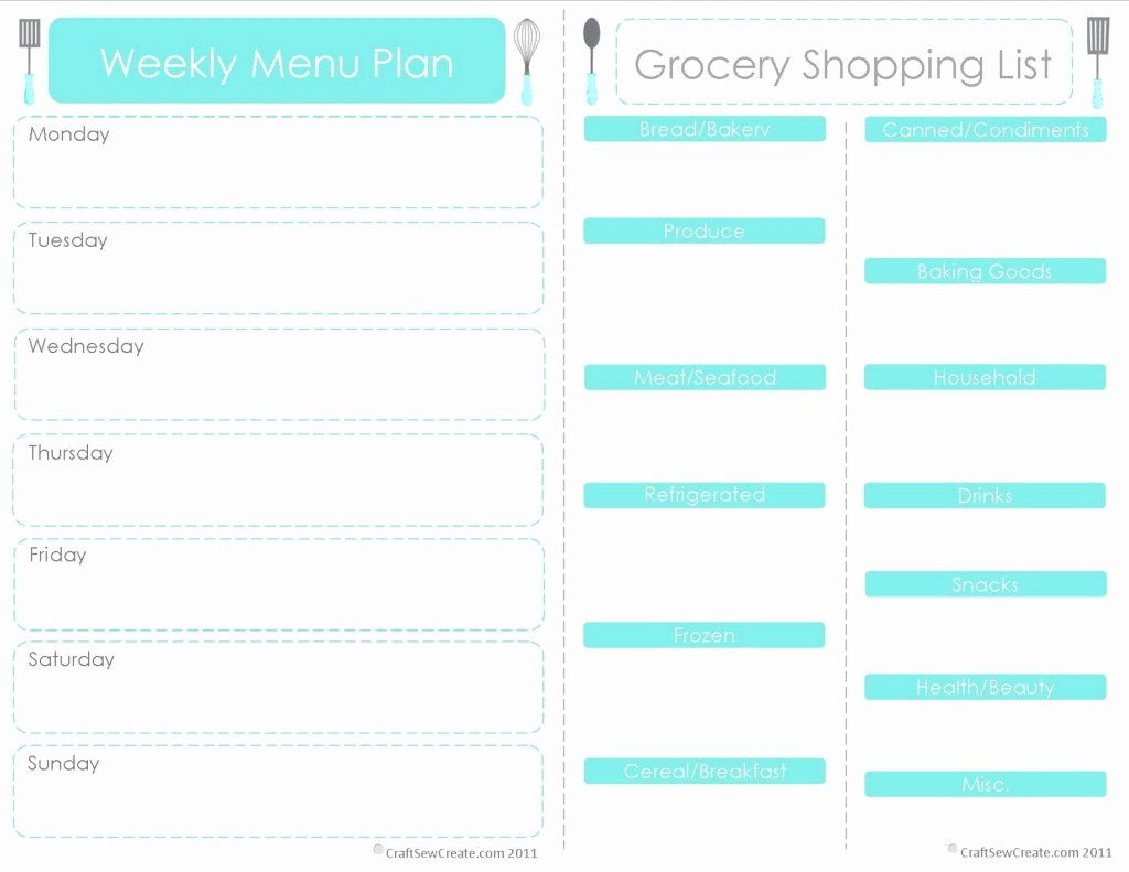Free Meal Plan Templates Beautiful 28 Free Printable Grocery List Templates