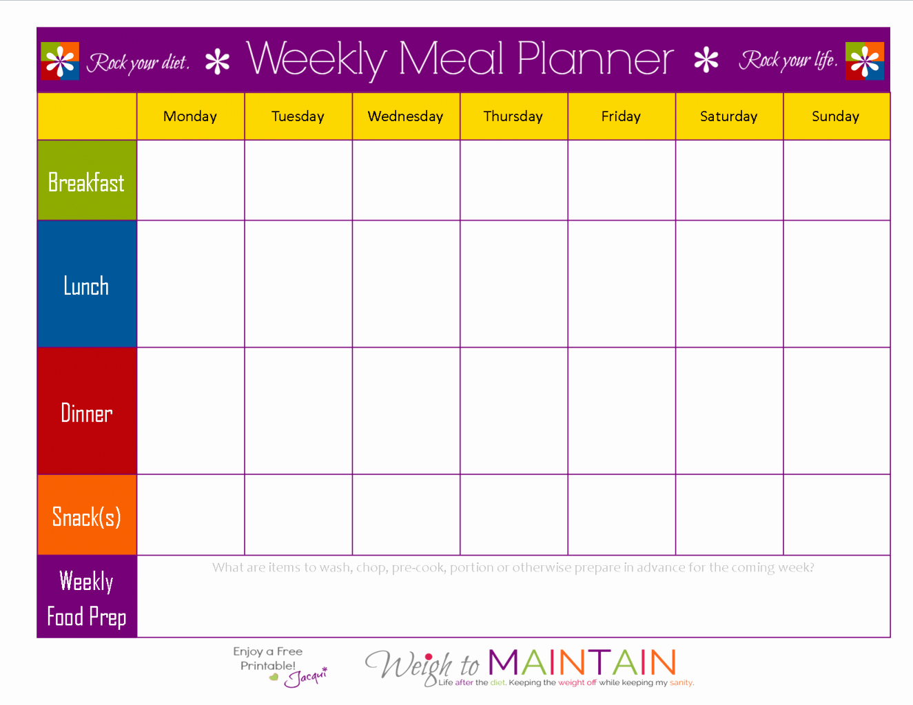Free Meal Plan Templates Best Of Weekly Food Chart Template
