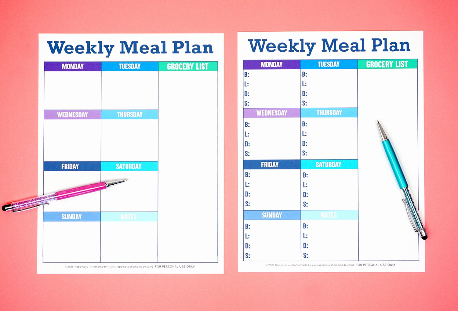Free Meal Plan Templates Elegant Printable Weekly Meal Planner Template Happiness is Homemade