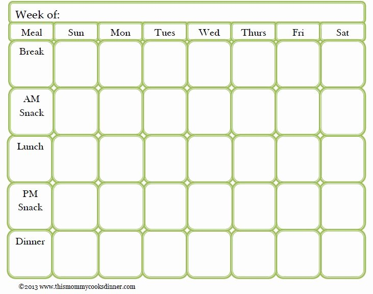 Free Meal Plan Templates Lovely Best 25 Meal Planning Templates Ideas On Pinterest
