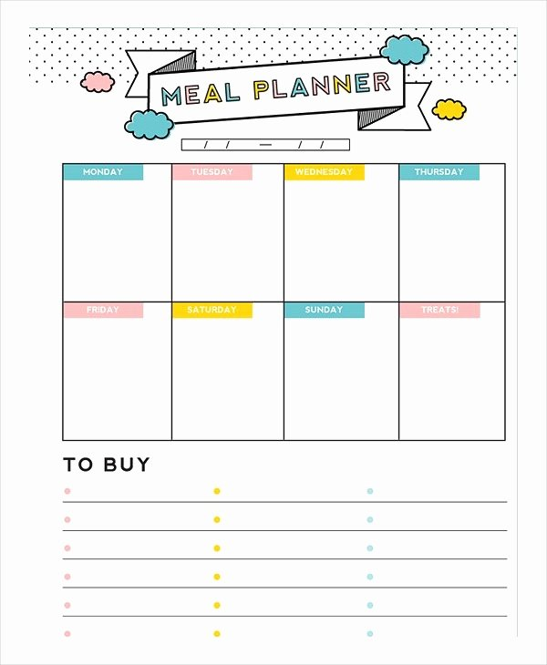 Free Meal Plan Templates New Meal Plan Template 22 Free Word Pdf Psd Vector