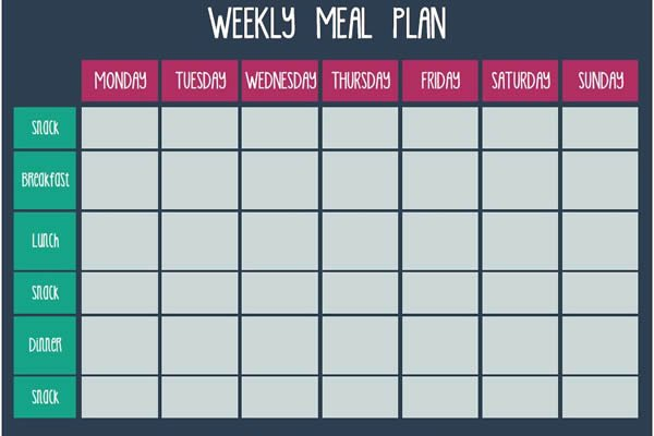 Free Meal Plan Templates New Meal Plan Templates Free Download