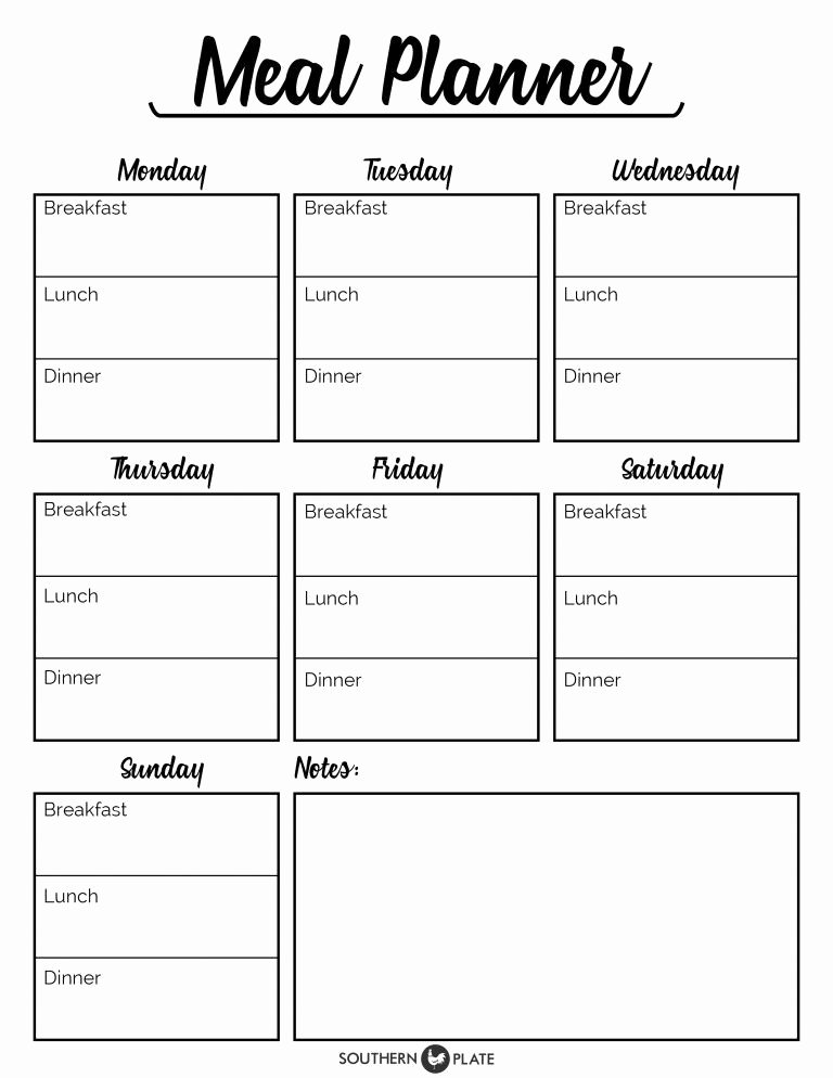 Free Meal Plan Templates Unique Pin by Nita Menezes On Menu Planner