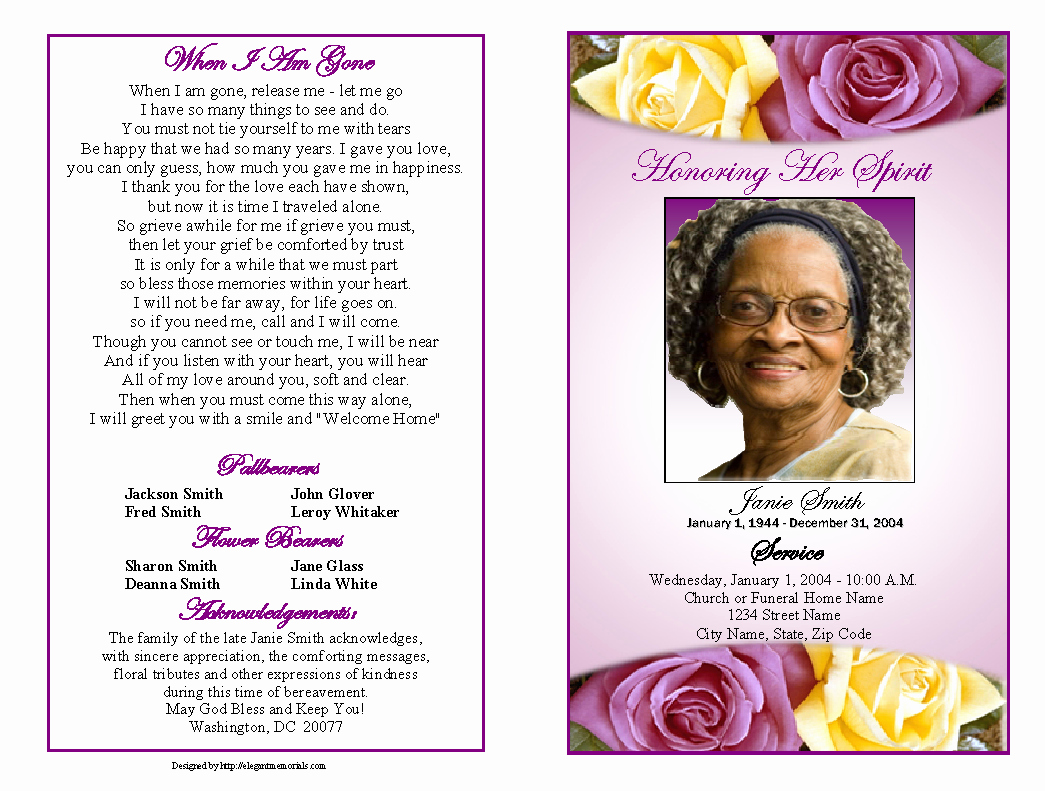Free Memorial Card Template Beautiful Memorial Service Programs Sample