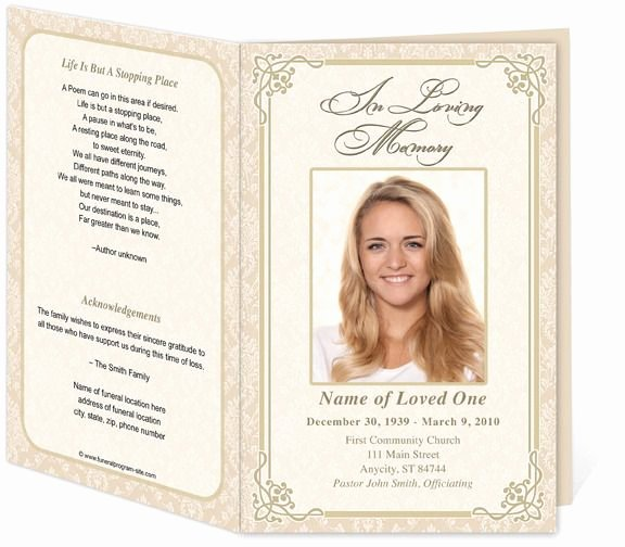 Free Memorial Card Template Elegant Download Edit Print Ready Made Program