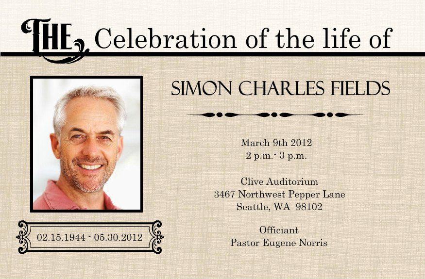 Free Memorial Card Template Lovely 1000 Images About Celebration Of Life On Pinterest