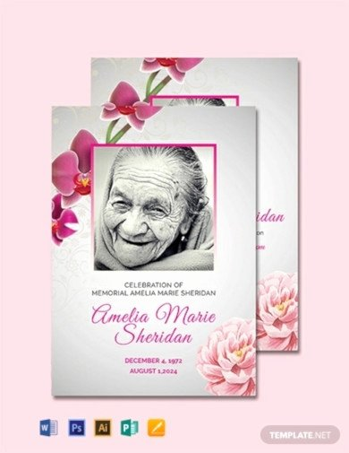 Free Memorial Card Template Luxury 9 Funeral Memorial Card Templates In Ai Word