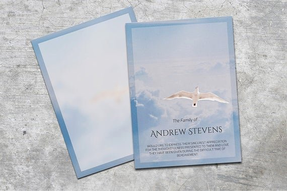 Free Memorial Card Template Unique Thank You Card Funeral Template Editable with Ms Word