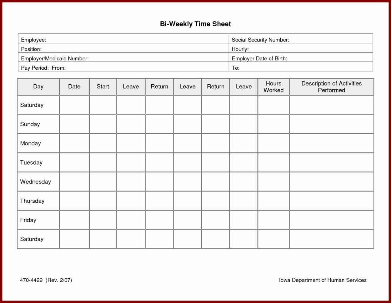 Free Monthly Timesheet Template Fresh Weekly Timesheet Template Excel Free Download Time