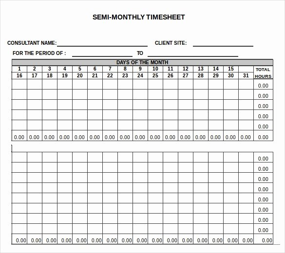 Free Monthly Timesheet Template Unique 26 Monthly Timesheet Templates Free Sample Example