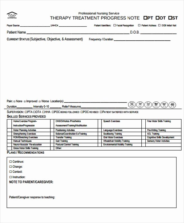 Free Nursing Progress Notes Template Elegant Nursing Note Templates 6 Free Word Pdf format Download