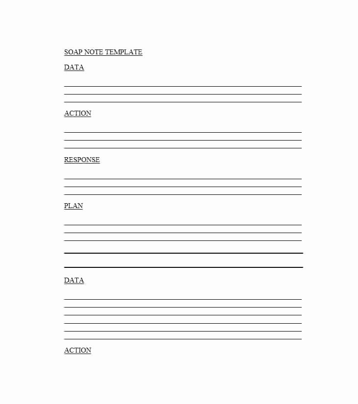 Free Nursing Progress Notes Template New 40 Fantastic soap Note Examples & Templates Template Lab