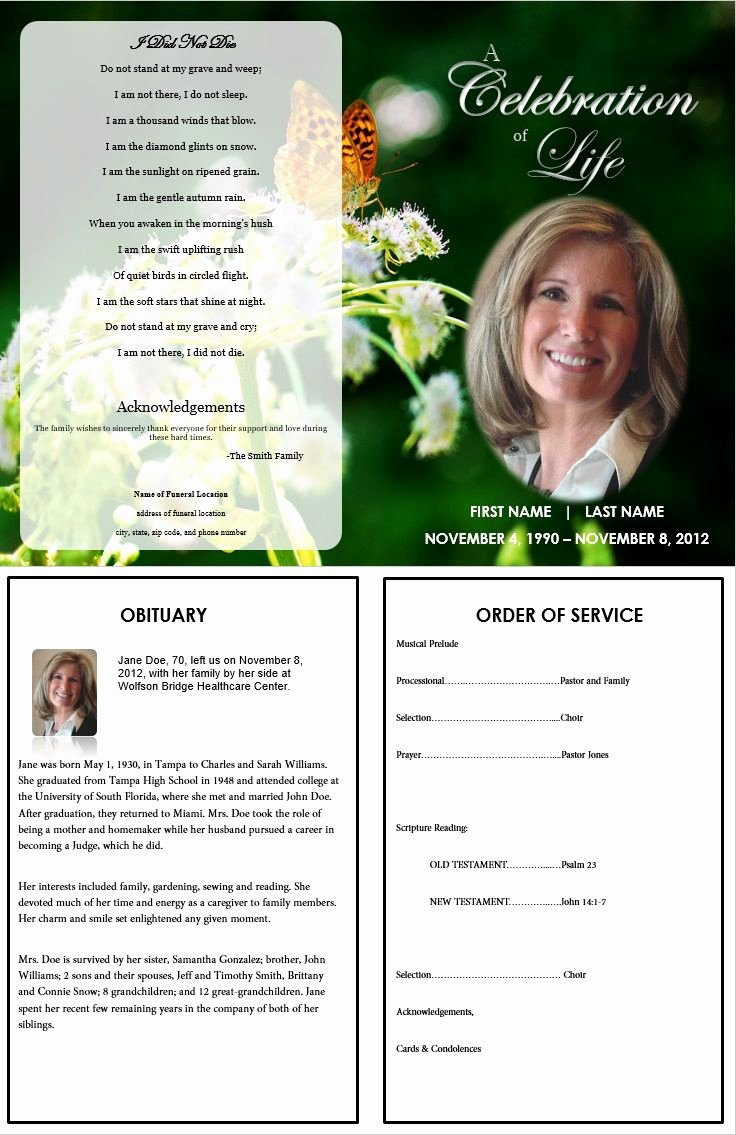 Free Obituary Templates for Word Awesome Free Editable Obituary Templates Word Pdf Daily Roabox