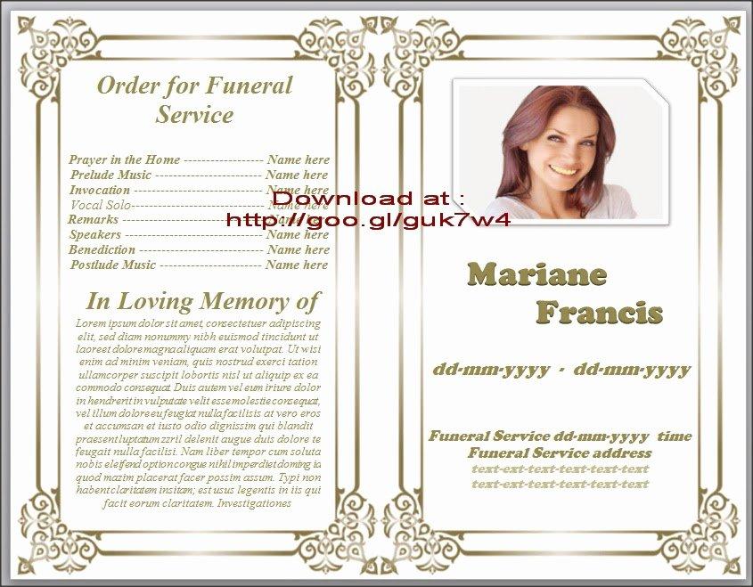 Free Obituary Templates for Word Beautiful Free Obituary Template