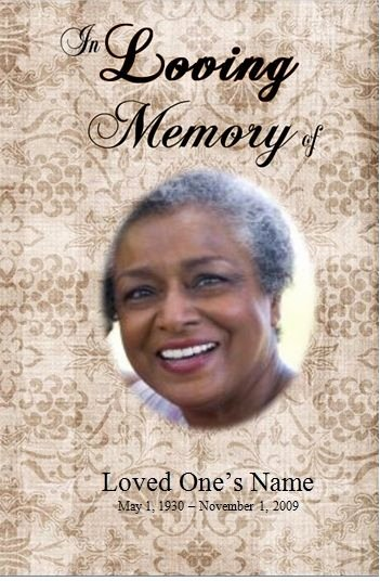 Free Obituary Templates for Word Best Of Single Fold Printable Obituary Template for Microsoft Word