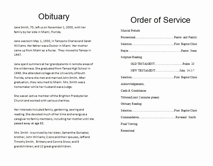 Free Obituary Templates for Word Elegant the Funeral Memorial Program Blog Free Funeral Program