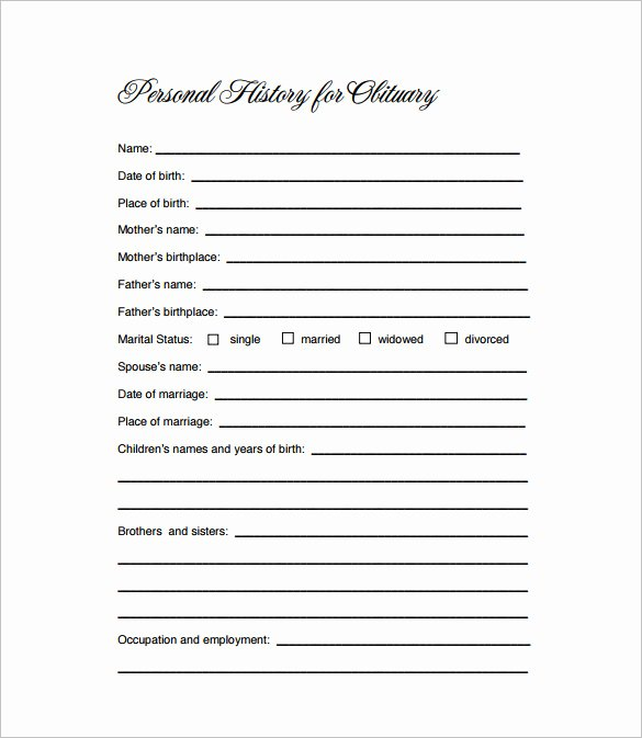 Free Obituary Templates for Word Fresh Obituary Template 21 Free Blank Obituary Templates Word